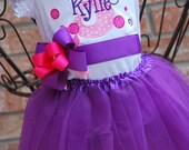 Personalized 1st 2nd 3rd 4th 5th Birthday tutu outfit