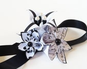 Paper Flowers & Lilies Corsage: Made to Order- Handmade Origami for prom, bridesmaid, graduation, gifts for her, or the mother of the bride