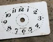 Vintage Alarm Clock Face -- cardboard -- D10