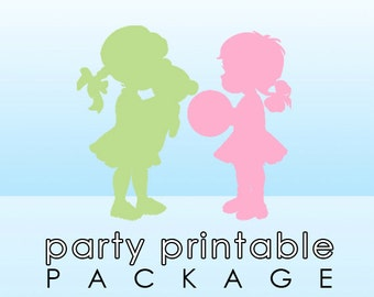 Coordinating Party Printable Package - Choice of 3 Party Items