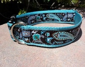 "Big Dog Collar 1.5"" wide side release buckle Coco Paisley / or 1"" listing within/ martingale style is cost upgrade"