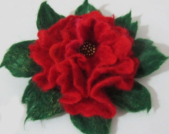 Felt  brooch rose Eco-Friendly Flower Brooches on Etsy Gift for Christmas