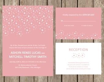 Poppy Blossom Wedding Invitation - DEPOSIT