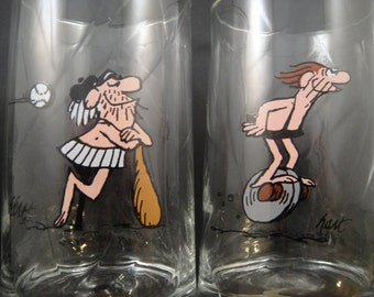Arbys 1981 BC Ice Age Thor and Wiley Glasses