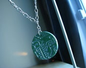 Faux Circuit Board Earring and Necklace Set