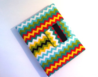 iPad Case -  folding cover or stand in Bright Chevron fits all generations