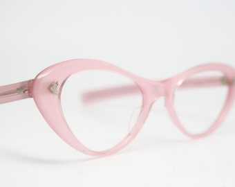 Pink cat eye glasses rhinestone cateye frames