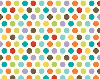 DeStash SaLe!! Last 2 yds + 13 inches - GOOD DOTS Multi by Deena Rutter - Riley Blake Designs