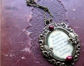 Lord Byron Vampire Quote - Bronze - Poetry Quote Necklace