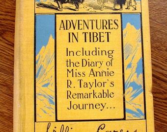 TIBET Travelogue 1900s vtg book