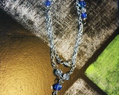 Liquidation SALE persian Blue crystal Cross necklace