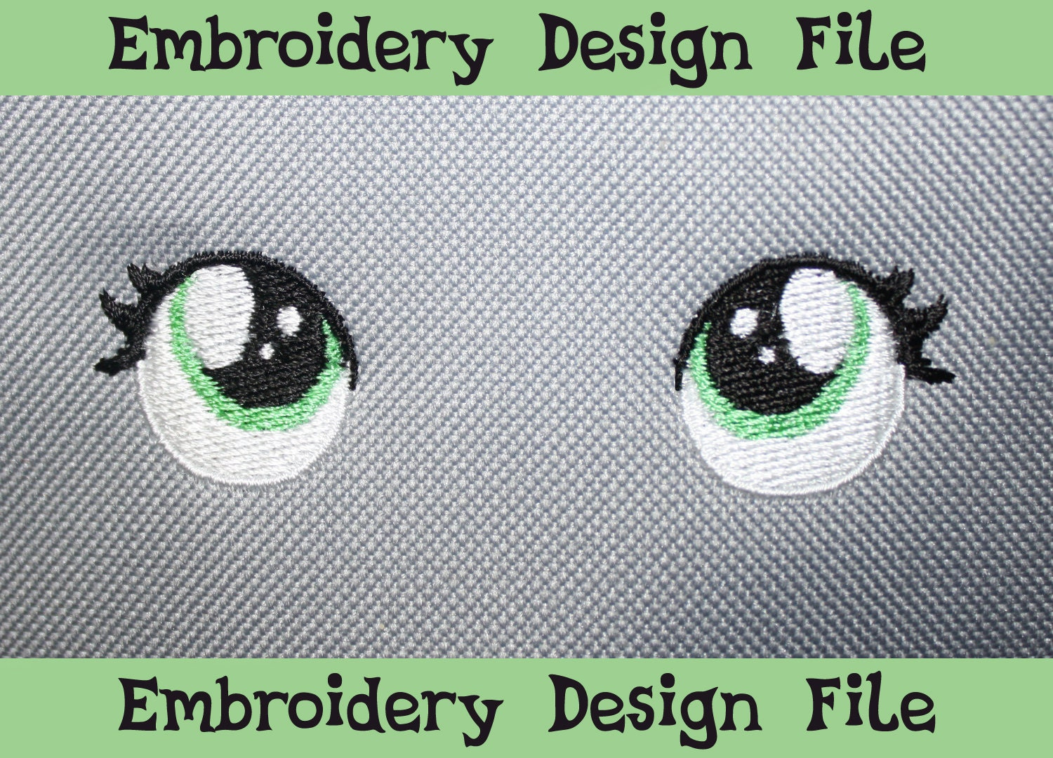Pes files filly eyes v embroidery machine design by