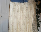 Belle Demoiselle bohemian jean skirt exquisite vintage French lace Made to Order goddess fairy Renaissance Denim Couture