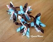 Turquoise Flower Child Korker Pony-O Set