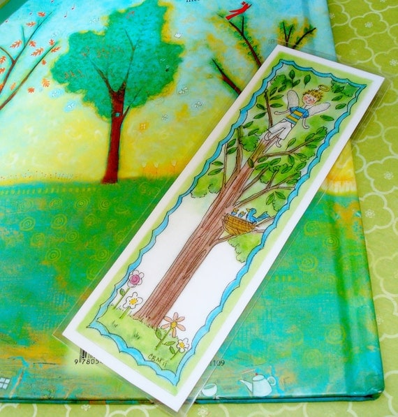 Bookmarks Fairies Original Illustration Party Favors
