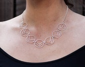 Deco Chevron Necklace, Hand-made to order, Choose your metal, Length 18""