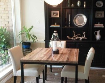 Dining Table Reclaimed Wood Table Parsons Frame Metal Table Dining Table