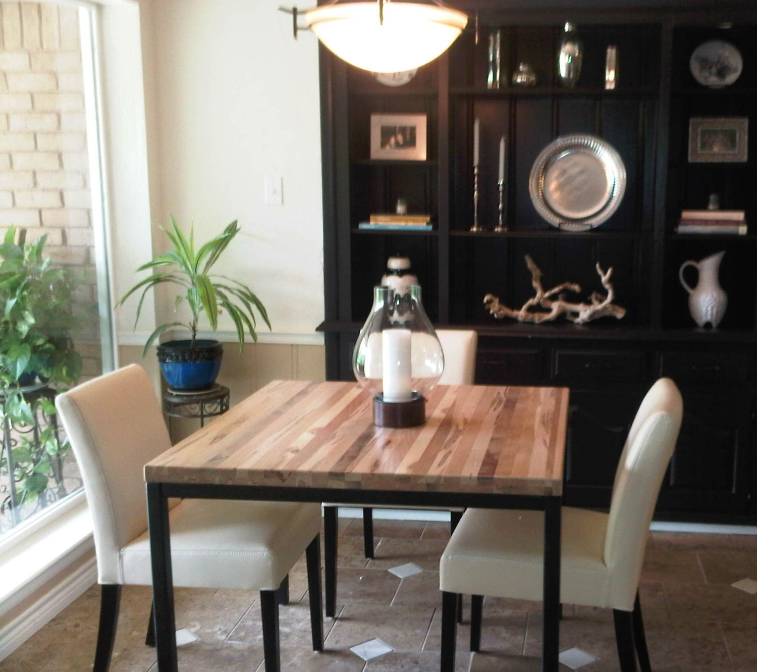 Delightful Dining Table Reclaimed Wood Table Parsons Frame Metal Table Dining Table