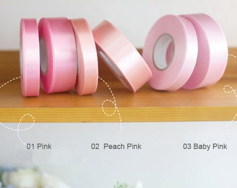 15mm Satin Ribbon Pink / Peach pink / Baby Pink (Select one)
