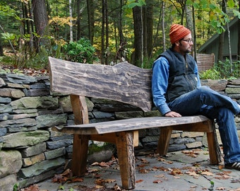 West Ohayo Mountain Bench Ecological Sustainable Outdoor Furniture for Home and Garden