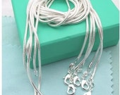 """SP 1mm snake chains (10) 22"""""""