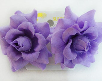 Mini Purple Lavender Rose flower Earrings