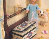 Toy Box Plastic Canvas Pattern Fashion doll Barbie