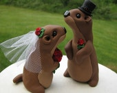 Groundhog Love wedding cake topper