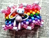 RAINBOW mew pokemon kandi cuff