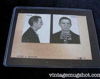 Cleveland Ohio Police Department Criminal MUG SHOT 1951 Bookie Gambling Crime Family