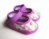 Rose Lilac Baby Sandals Spring Summer Pink Flowers Geometric Baby Shoes Newborn