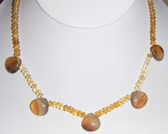 Citrine and Carnelian Necklace