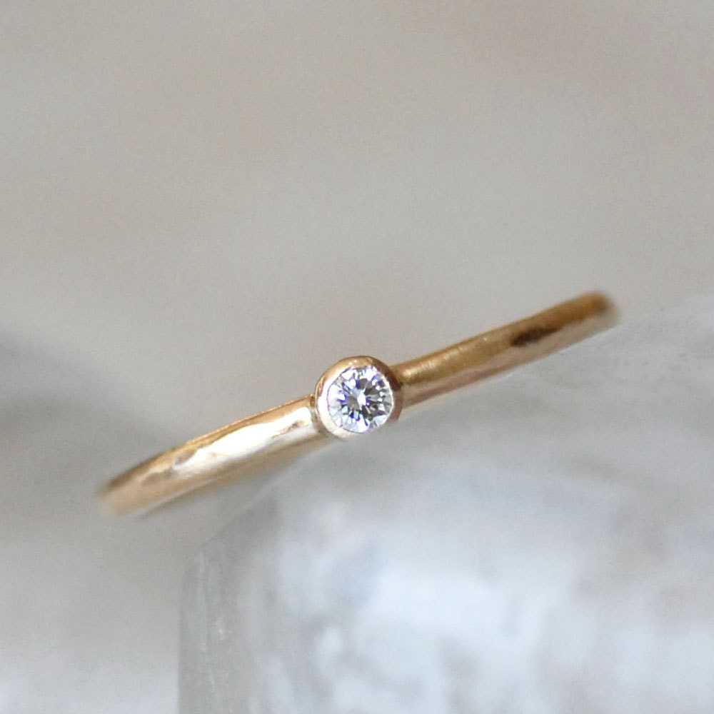 Diamond Engagement Ring 2 5mm Diamond Gold Ring Diamond