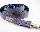 Indigo Herringbone Dog Leash