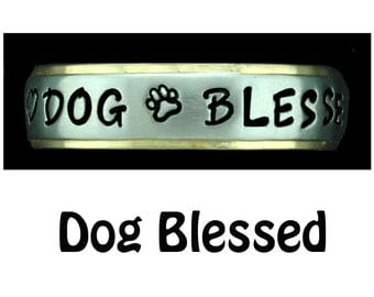 Dog Jewelry Ring Stainless Steel Dog Blessed Ring Jewelry Custom made Gift, Dog Lover, Handler, Trainer