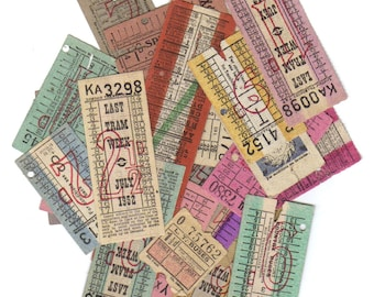 5 LONDON vintage tickets
