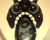 Verde Noir bead embroidered necklace - January 2013 Challenge Rising Star