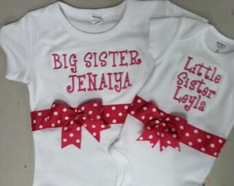Fuschia Big Sister/Little Sister Shirt Set