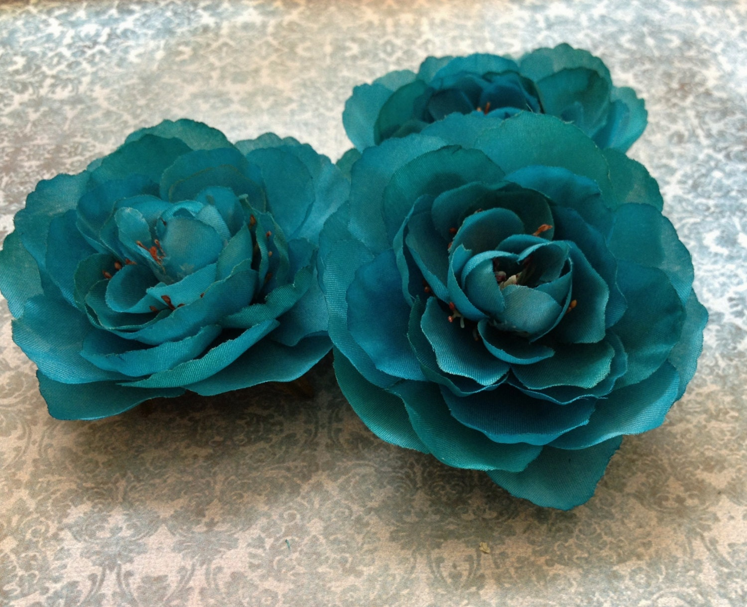 Artificial Teal Flowers