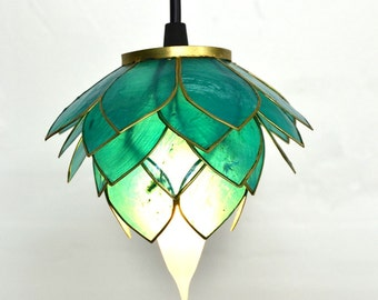 """LOTUS - """"Lotus Blossom"""" Pendant lights  - 100% natural and recycled"""
