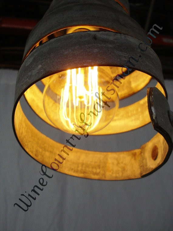 Corba Copula Pendant Light Wine Barrel By Winecountrycraftsman