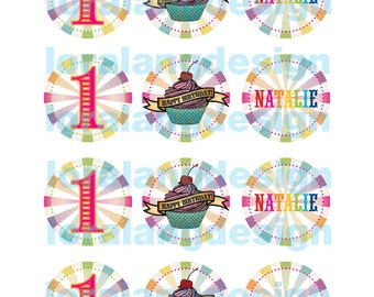 DIY Printable Little Sweetie Rainbow Cupcake Toppers