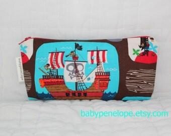 Pencil Case/Cosmetic Bag/ Gadget Case - Pirates