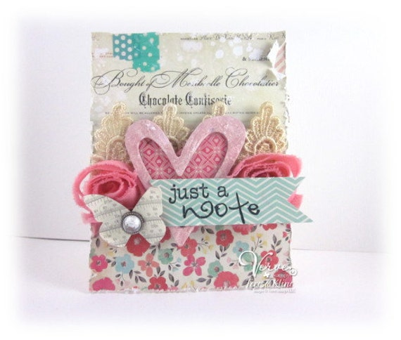 Shabby/Chic Thinking of You Blank Greeting Card