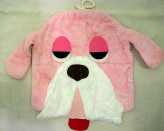 Vintage Pink Dog Bag