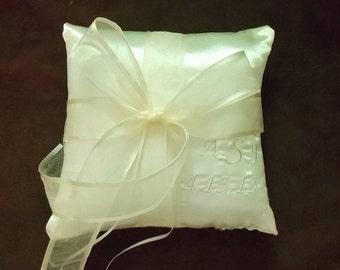 Ivory ring bearer pillow custom made pillow