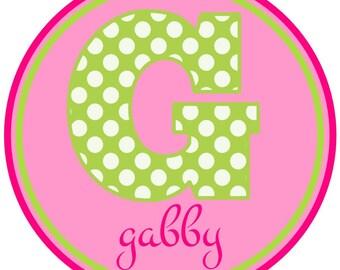 Girly Polka Dot Alphabet