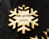 60 Snowflake Wedding Favors