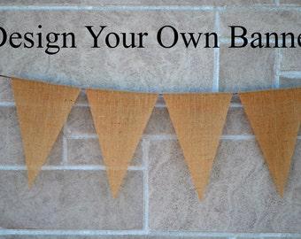 Wedding Banner  ...  Burlap Banner  ...  Custom Banner  ..  Design your own