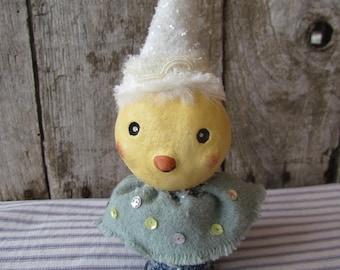 Primitive Folk Art Spring Easter Party Chick